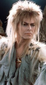 Jareth, a David Bowie-looking character